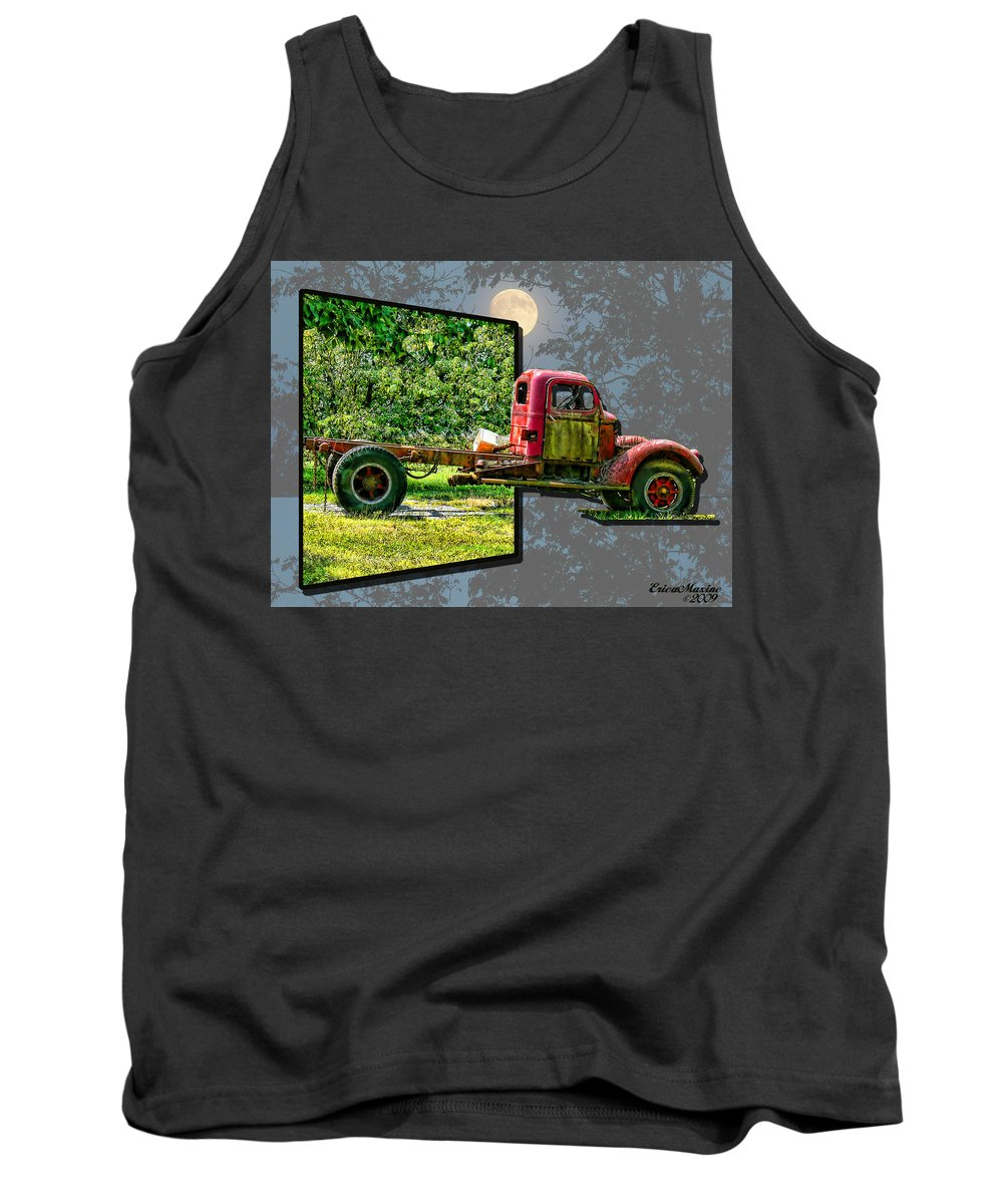 Truck Tank Top featuring the photograph An Old Relic by Ericamaxine Price