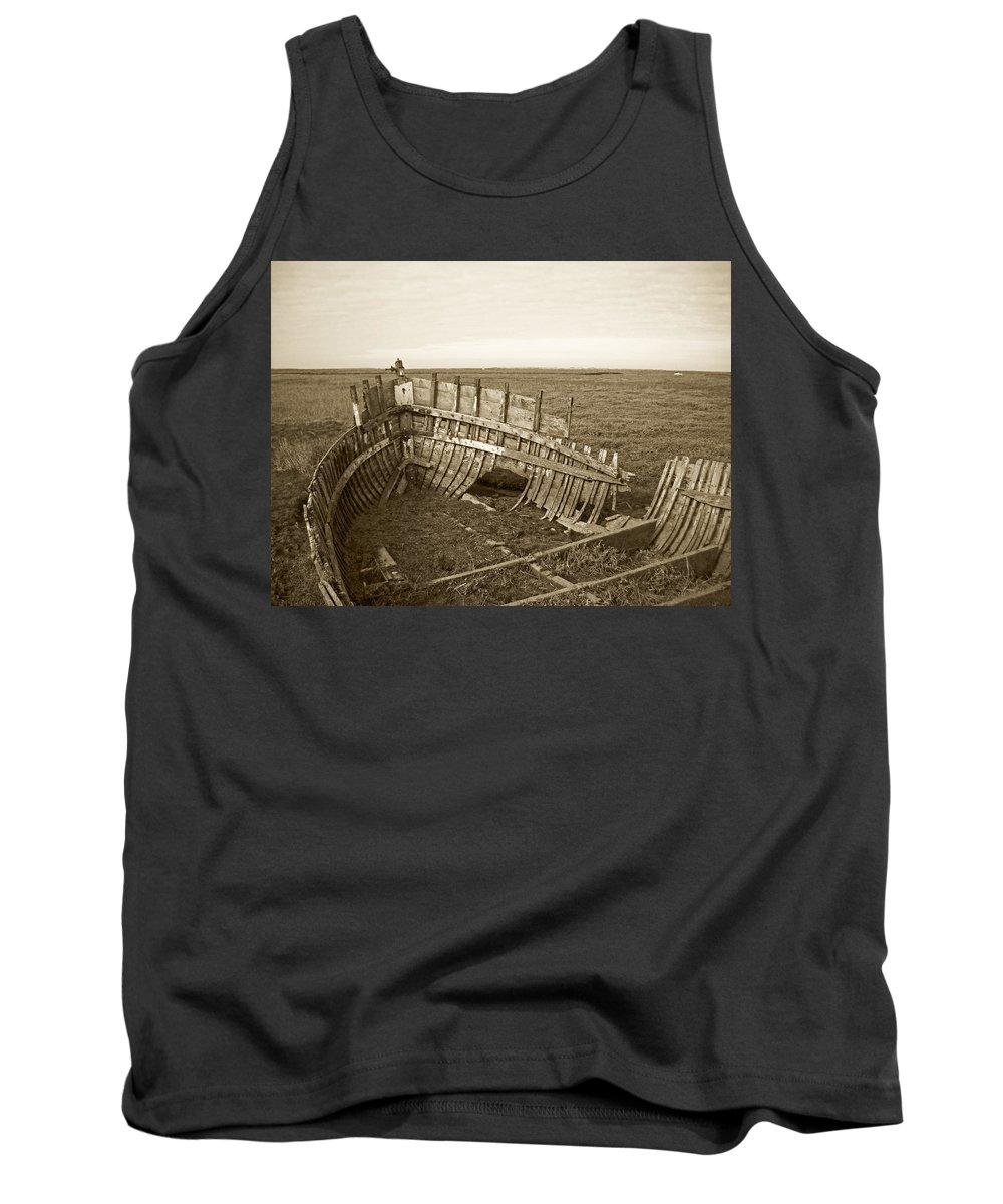 England Tank Top featuring the photograph Anatomy Of An Old Boat by Julia Raddatz