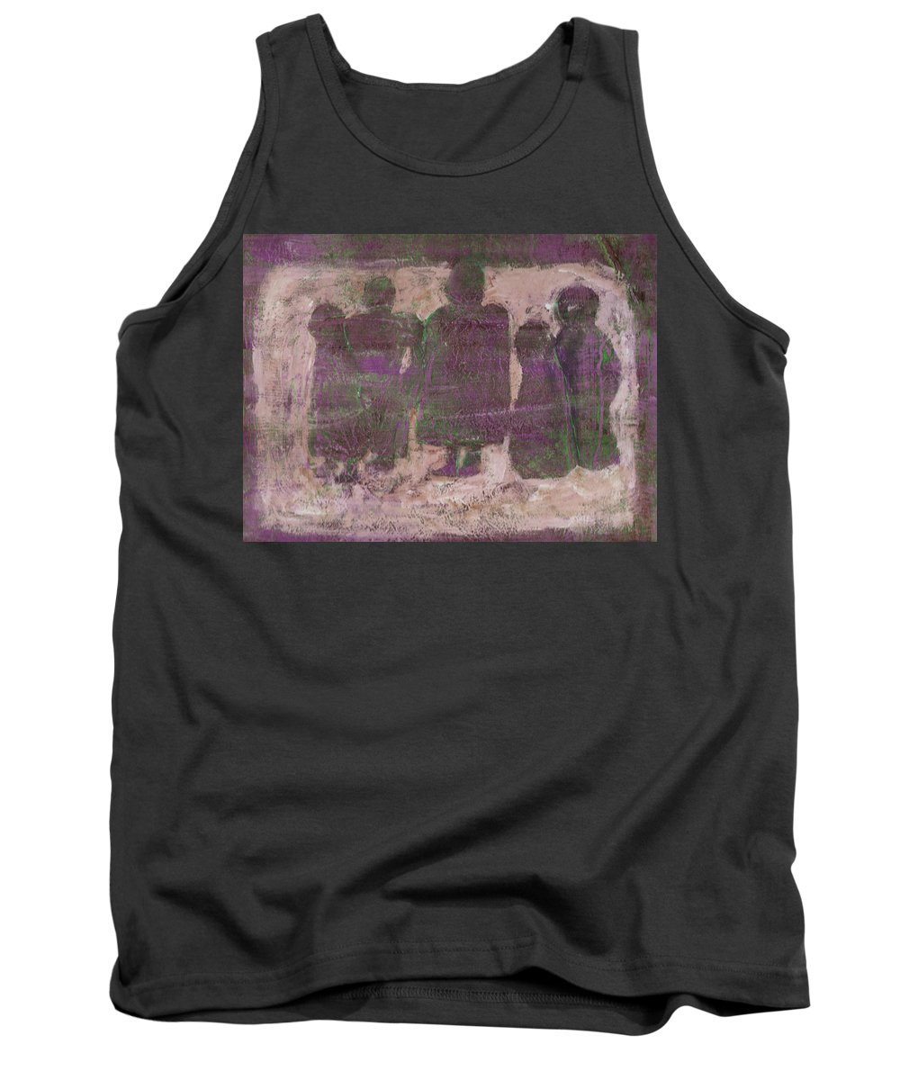 Ancestors Tank Top featuring the painting Ancestors by Wayne Potrafka