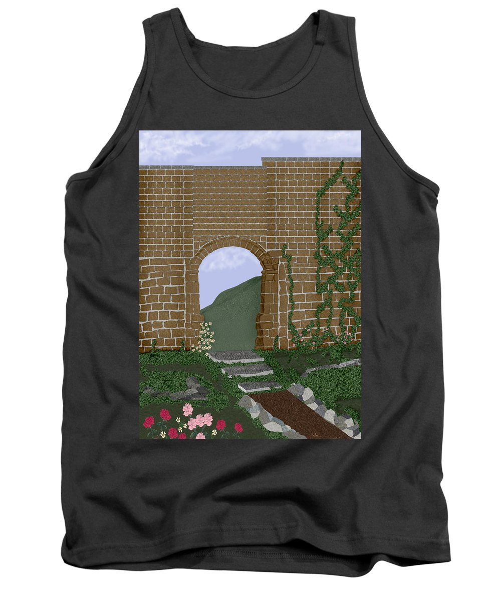 Irish Ruins Tank Top featuring the painting Ancient Walls by Anne Norskog