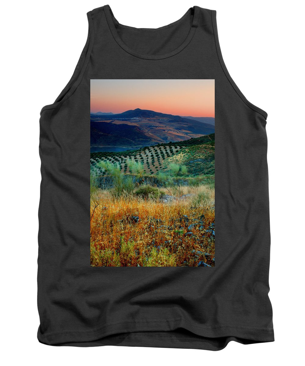 Andalucia Tank Top featuring the photograph Andalucian Landscape by Mal Bray