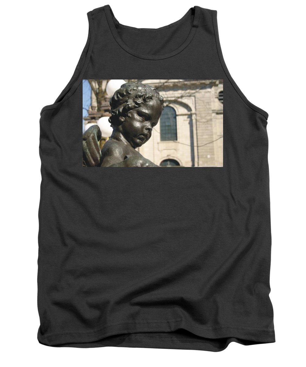 Sculture Tank Top featuring the photograph Angel by Michel Poulin