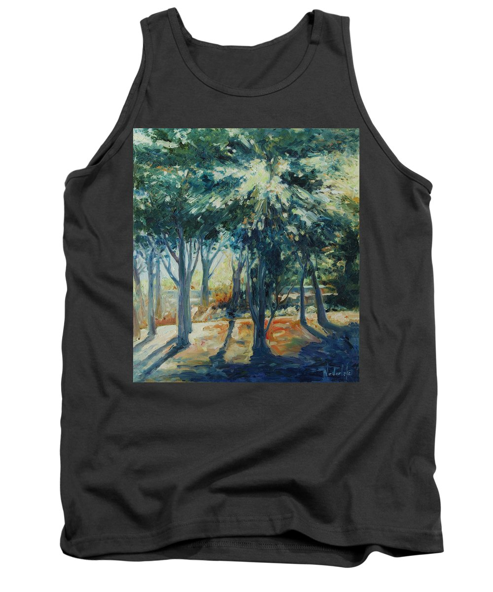 Trees Tank Top featuring the painting Angel Rays by Rick Nederlof
