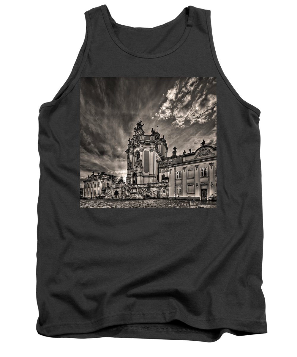 Architecture Tank Top featuring the photograph Angels And Demons by Evelina Kremsdorf