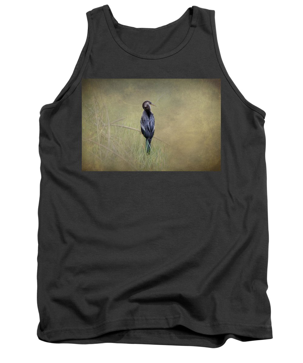 Anhinga Tank Top featuring the photograph Anhinga By Darrell Hutto by J Darrell Hutto