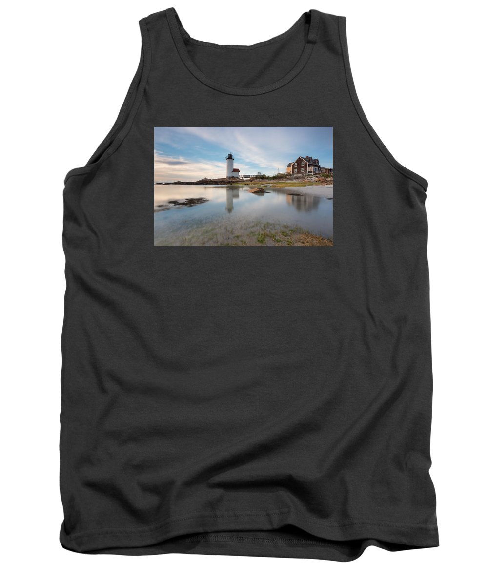 Lighthouse Tank Top featuring the photograph Annisquam Lighthouse by Jan Komsta