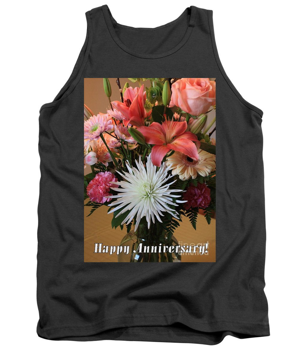 Bouquet Tank Top featuring the photograph Anniversary Card by Carol Groenen