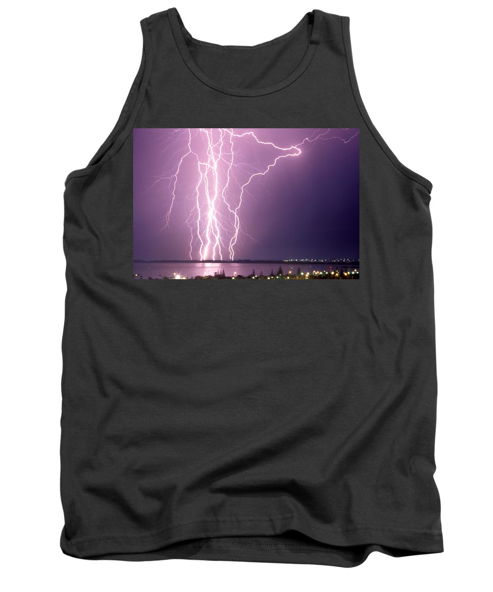 Lightning Tank Top featuring the photograph Anomaly by Robert Caddy