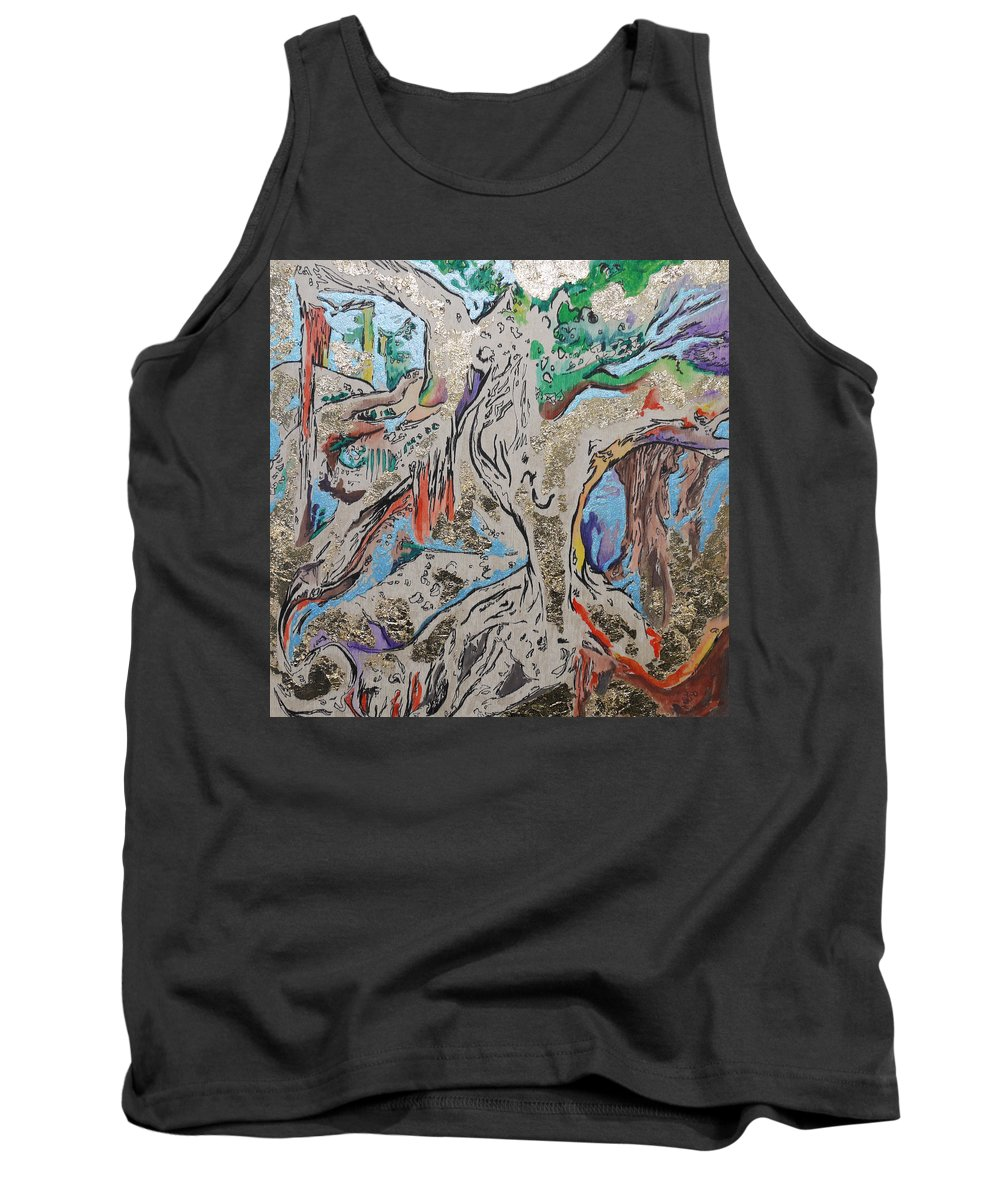 Banyan Tank Top featuring the painting Another Branch by Joseph Demaree