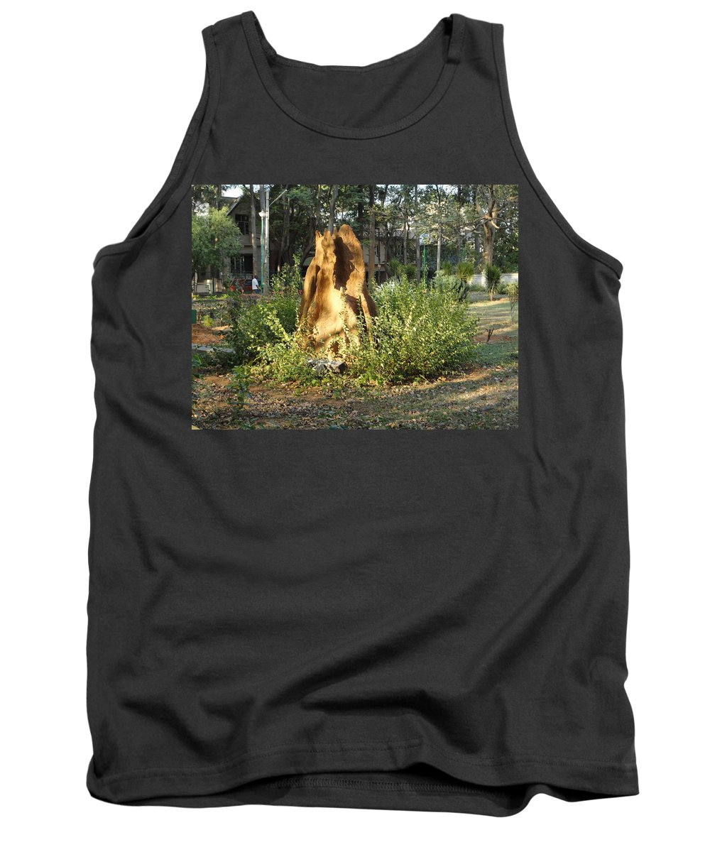 Ant Tank Top featuring the photograph Anthill by Usha Shantharam