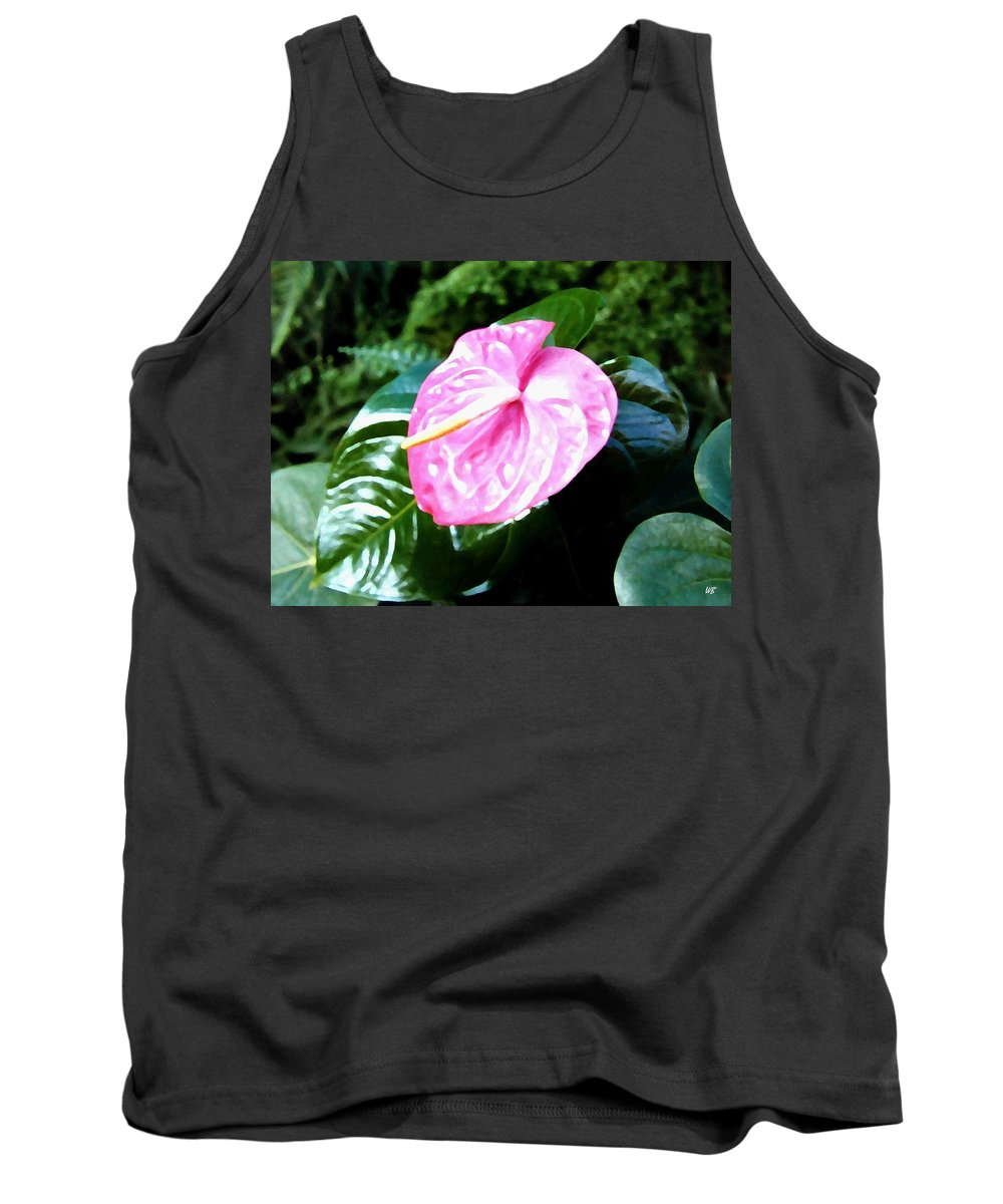 1986 Tank Top featuring the digital art Anthurium by Will Borden