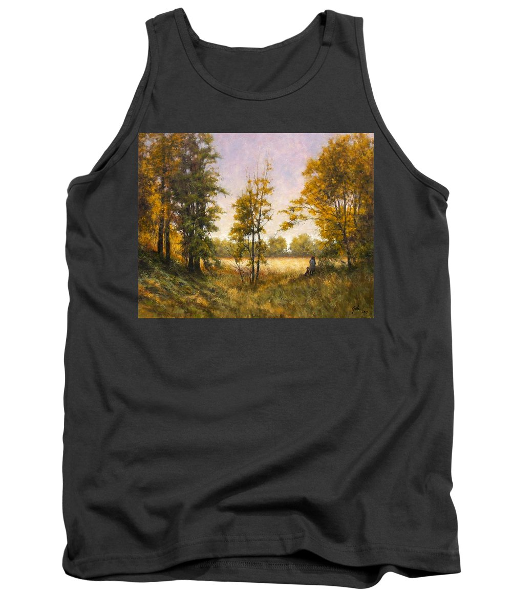 Artist Tank Top featuring the painting Anticipation by Jim Gola
