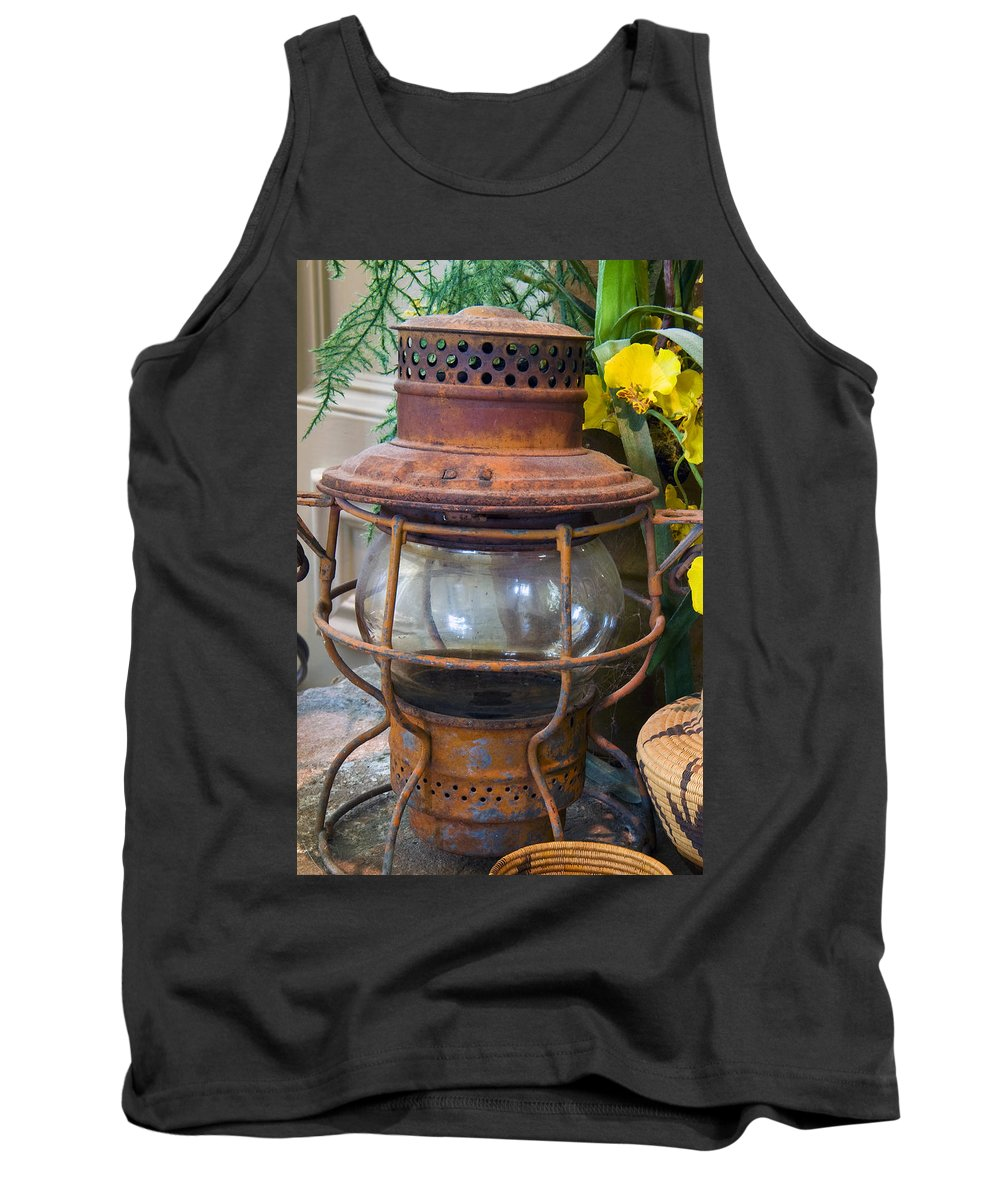 Lantern Tank Top featuring the photograph Antique Lantern by Stephen Anderson