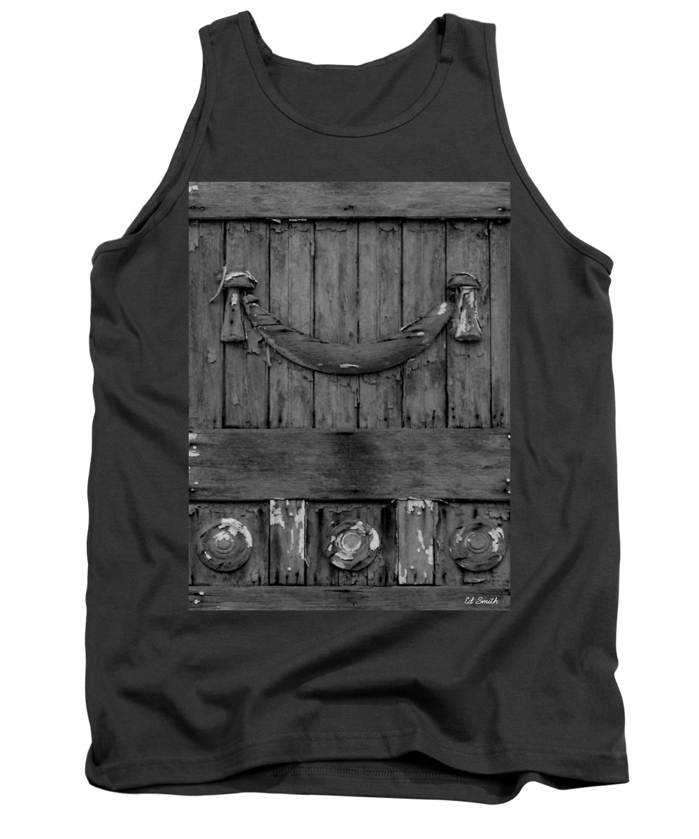 Antique Wood Panel Tank Top featuring the photograph Antique Ornate Wood Panel by Ed Smith