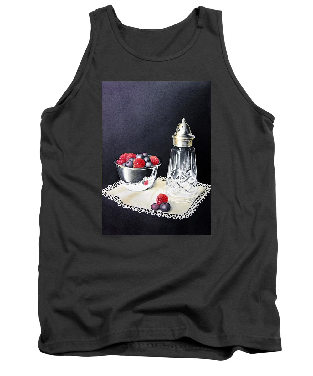 Watercolour Tank Top featuring the painting Antique Sugar Shaker by Brenda Brown