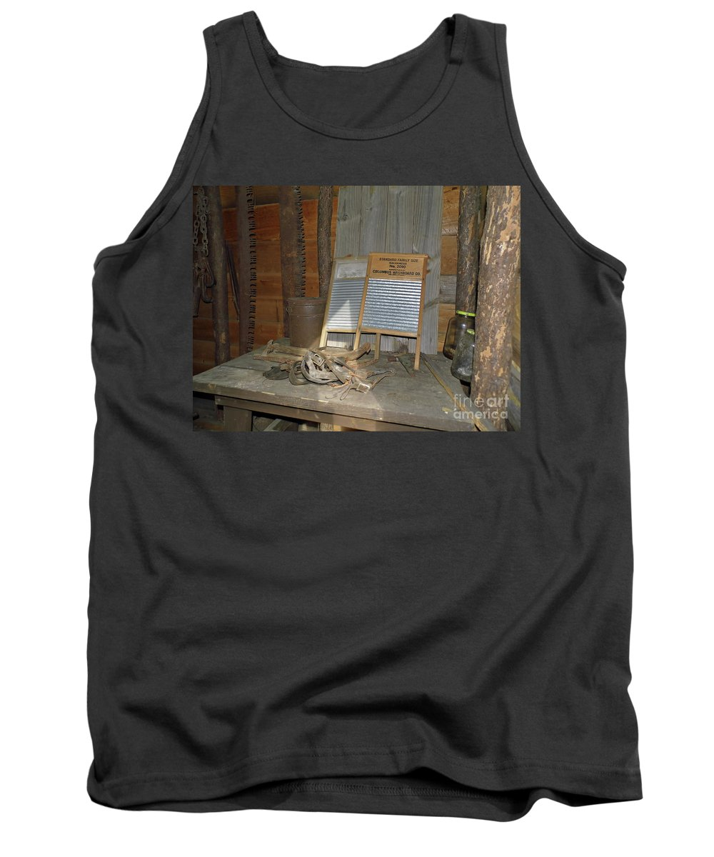 Board Tank Top featuring the photograph Antique Wash Boards by D Hackett