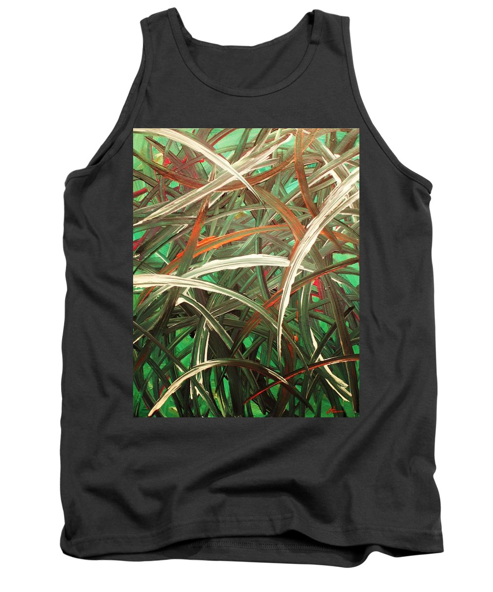 Abstract Tank Top featuring the painting Anxiety by Todd Hoover