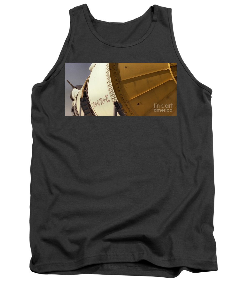 Technology Tank Top featuring the photograph Apollo Rocket by Richard Rizzo