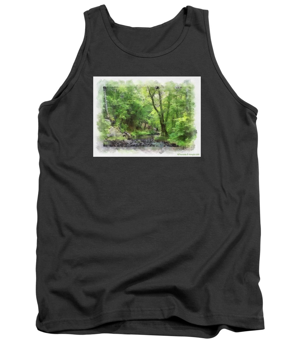 Wright Tank Top featuring the photograph Appalachian Creek by Paulette B Wright