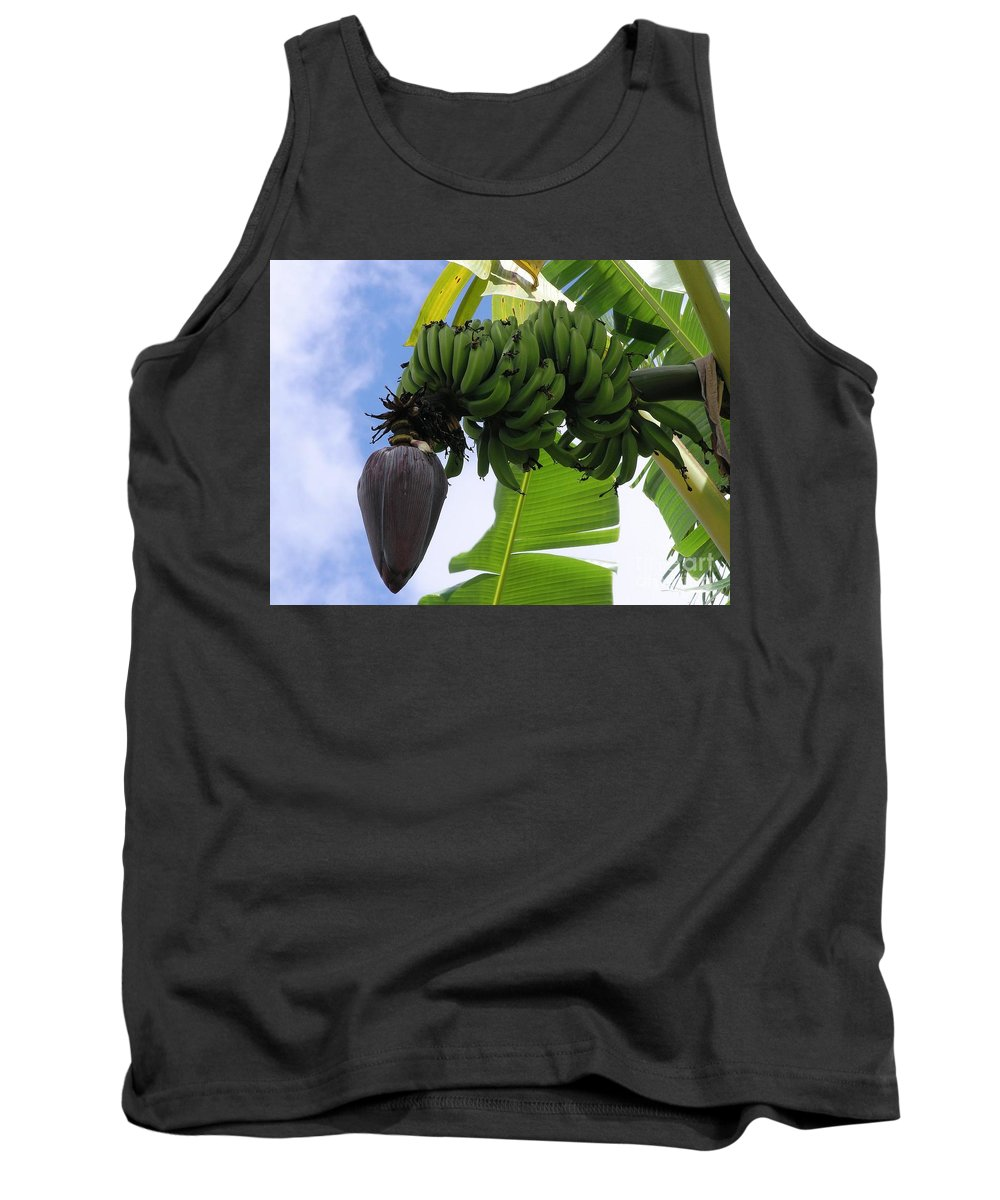 Green Tank Top featuring the photograph Apple Bananas by Mary Deal