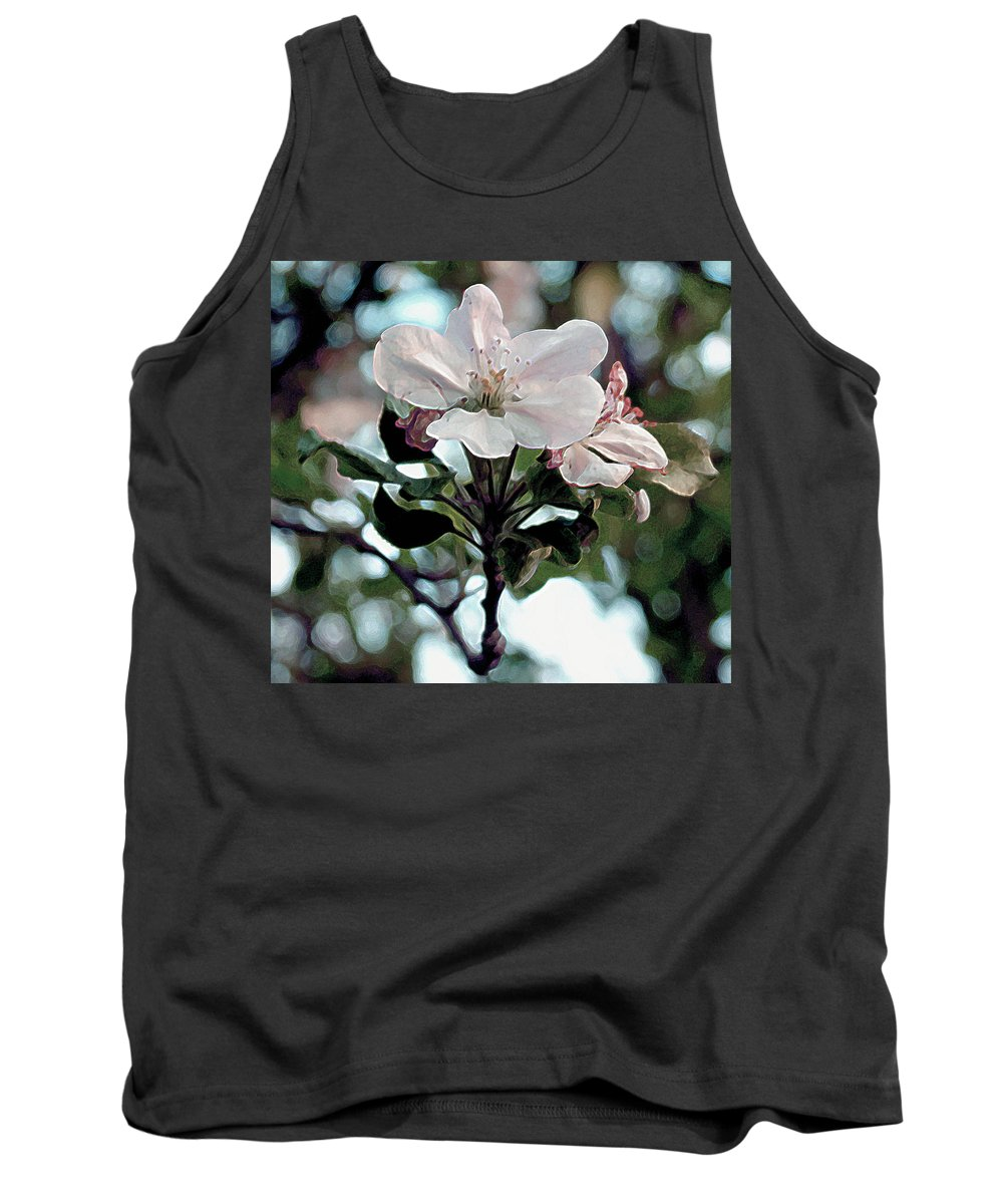 Blossom Tank Top featuring the painting Apple Blossom Time by RC deWinter
