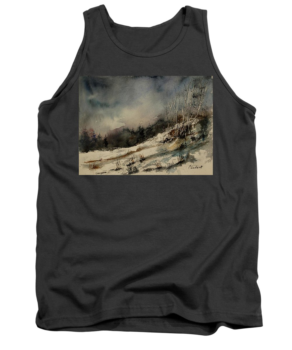 Winter Tank Top featuring the painting Aqua 051207 by Pol Ledent