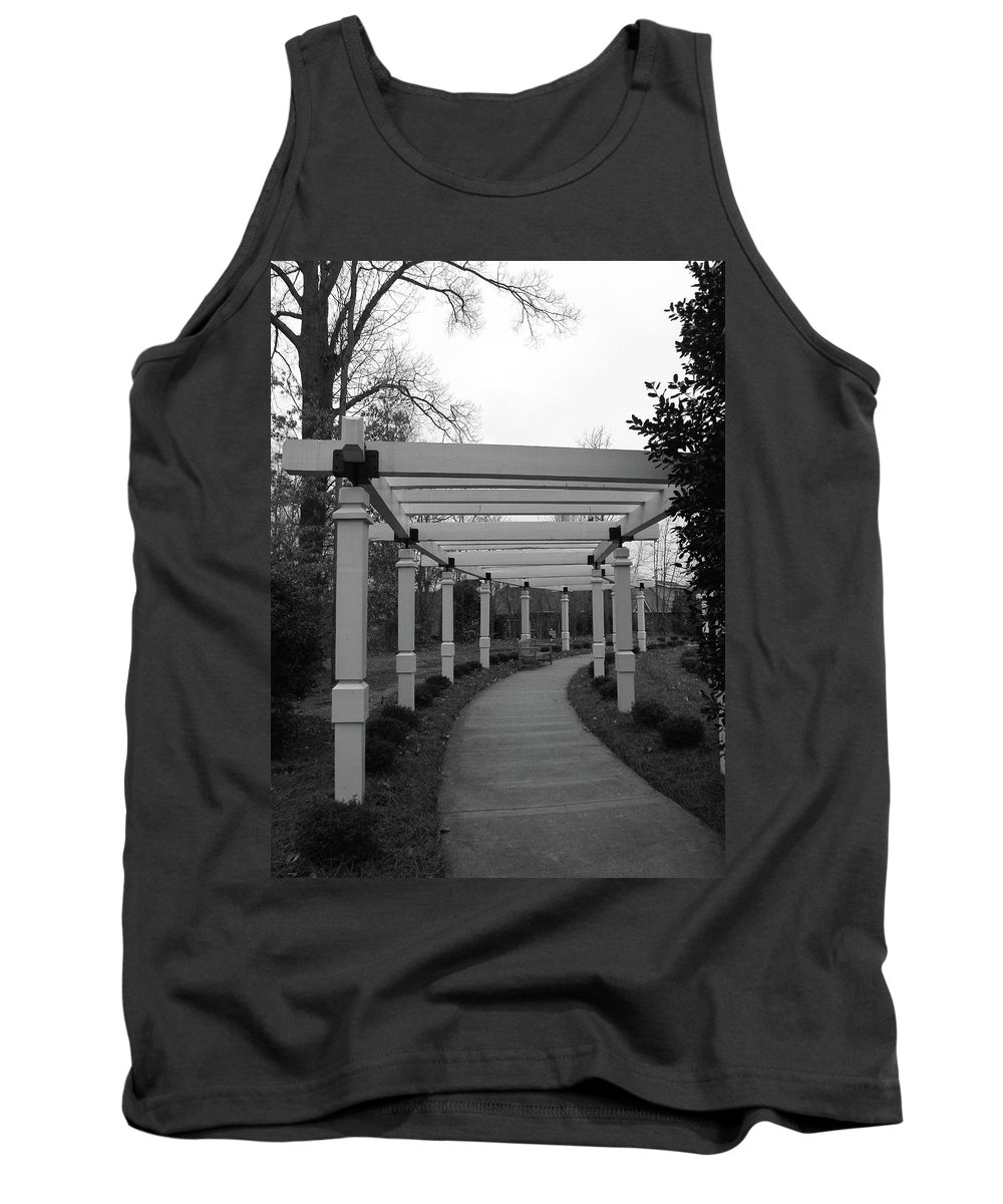 Arbor Tank Top featuring the photograph Arbor Walk by Sandi OReilly