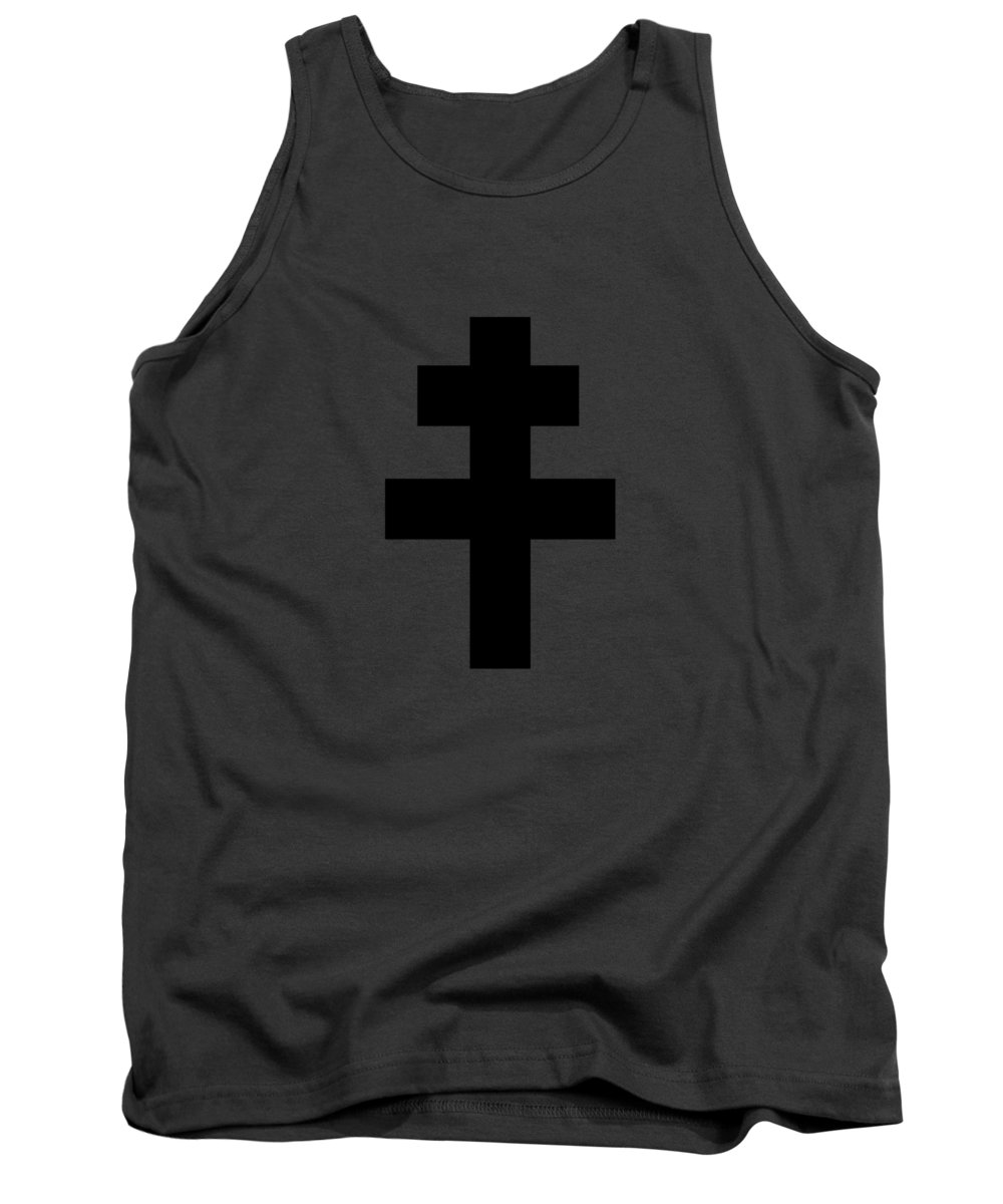 Religion Tank Top featuring the digital art Croix De Lorraine by Frederick Holiday