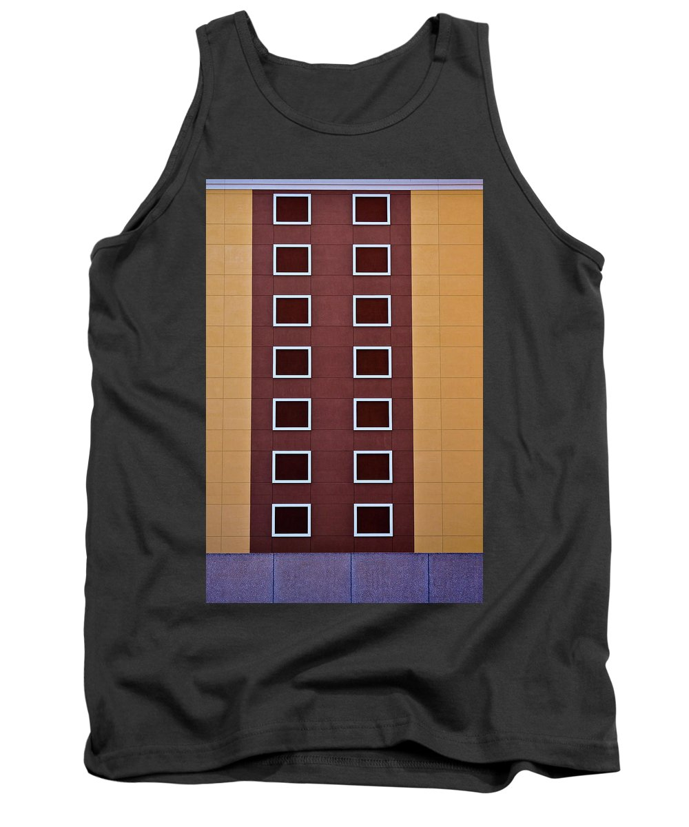 Window Tank Top featuring the photograph Architectural Geometry by Frances Hattier