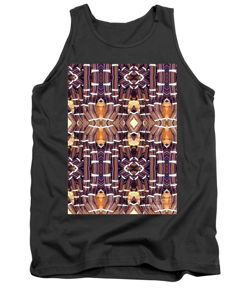Abstract Tank Top featuring the digital art Arctic Pipe by Ron Bissett