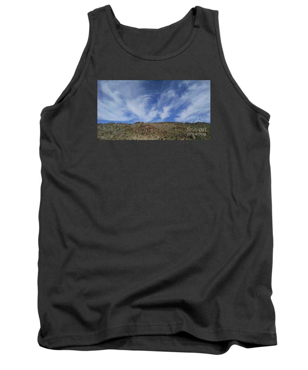 Arizona Desert Mountains Tank Top featuring the photograph Arizona Foothill Sky by Stephanie Forrer-Harbridge