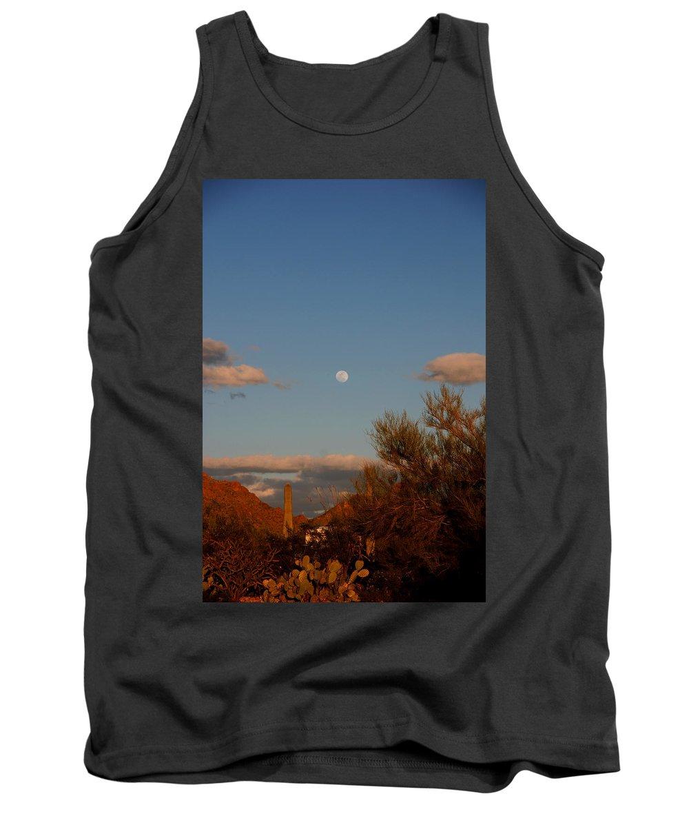 Arizona Tank Top featuring the photograph Arizona Moon II by Susanne Van Hulst