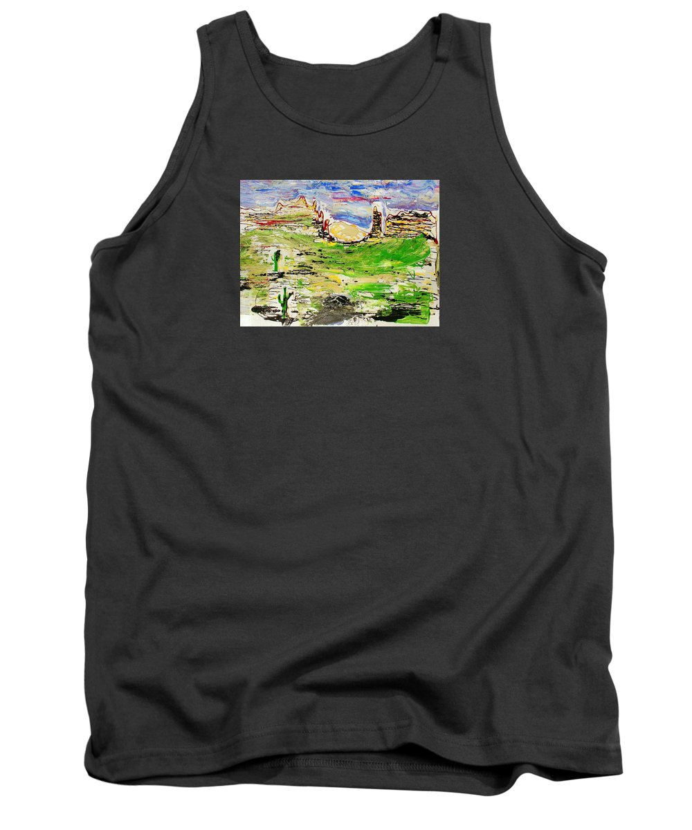 Impressionist Painting Tank Top featuring the painting Arizona Skies by J R Seymour