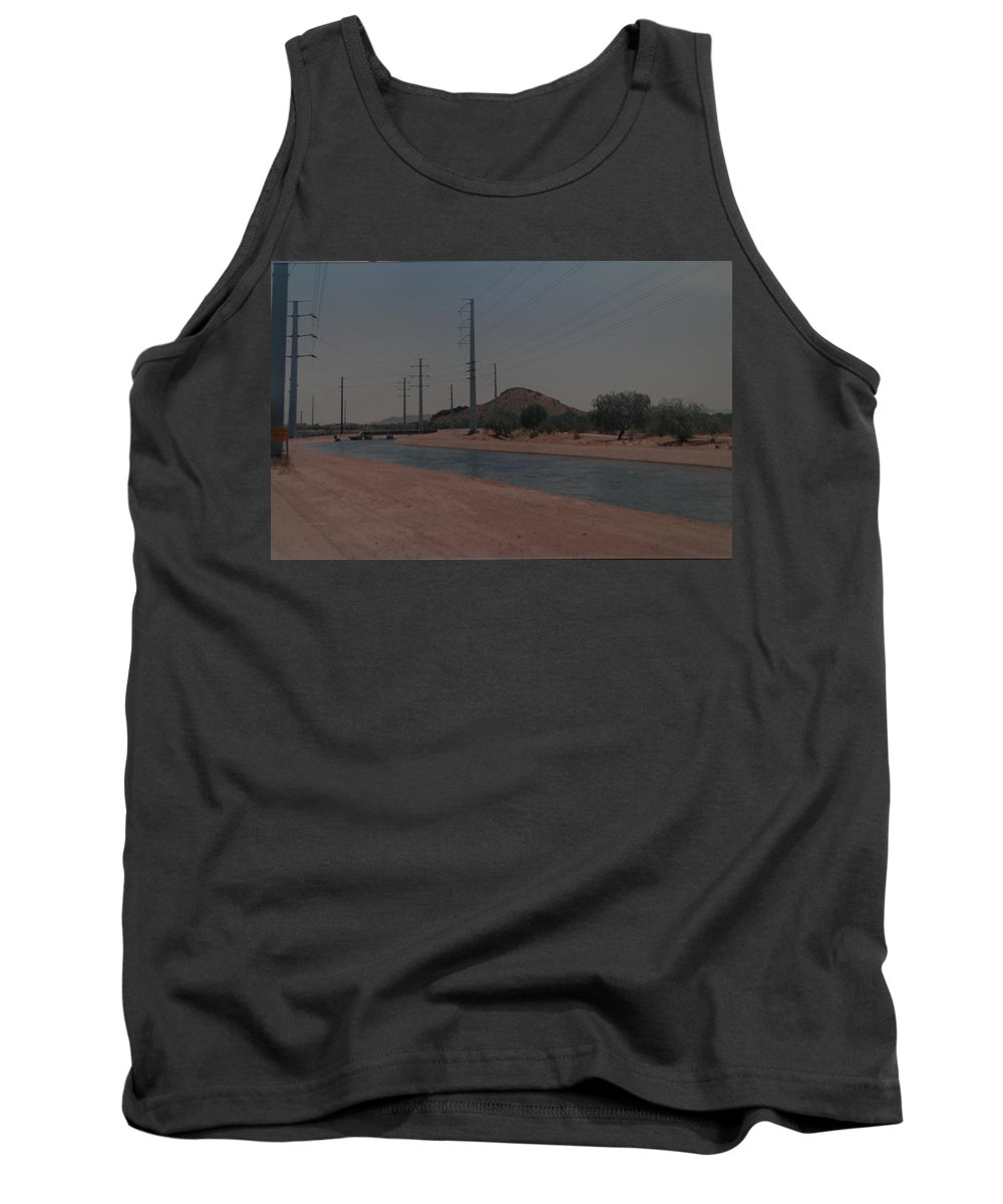 Arizona Tank Top featuring the photograph Arizona Waterway by Rob Hans
