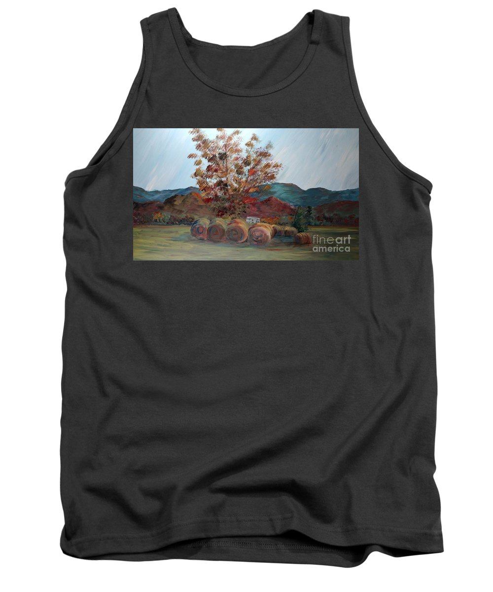 Autumn Tank Top featuring the painting Arkansas Autumn by Nadine Rippelmeyer