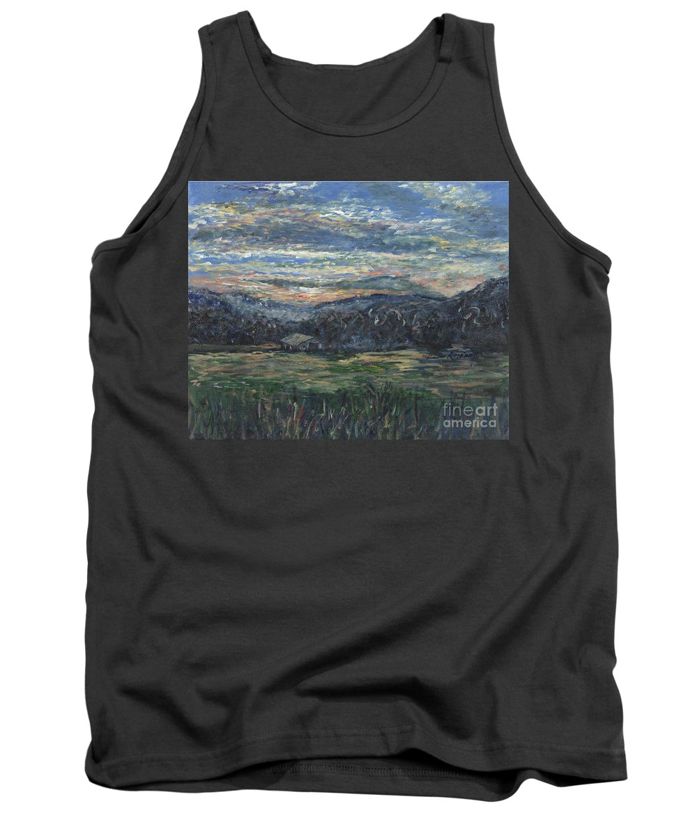 Impressionism Tank Top featuring the painting Arkansas Sunrise by Nadine Rippelmeyer