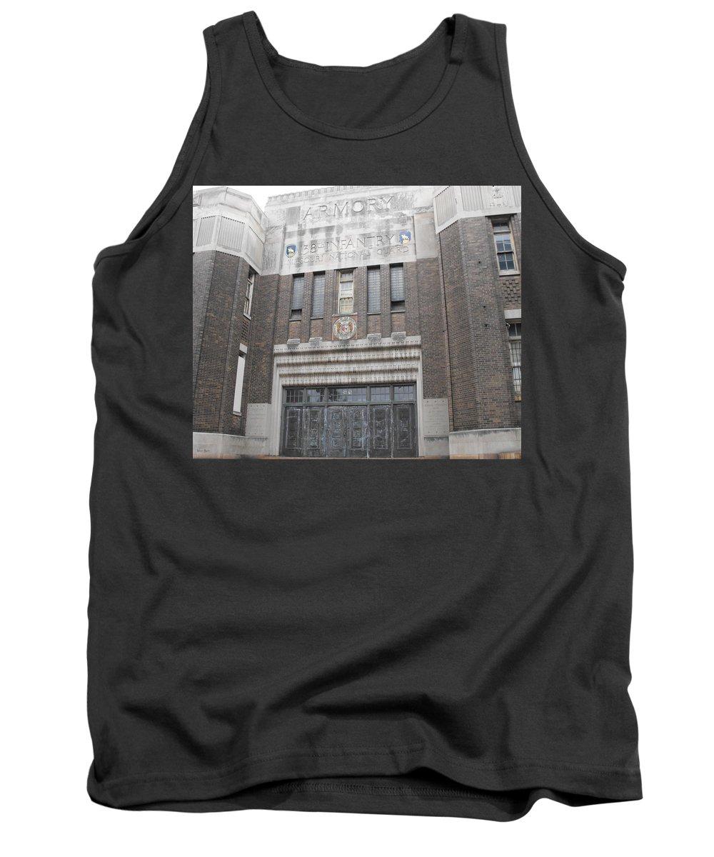 Armory Facade Tank Top featuring the photograph Armory Facade by Ginger Repke