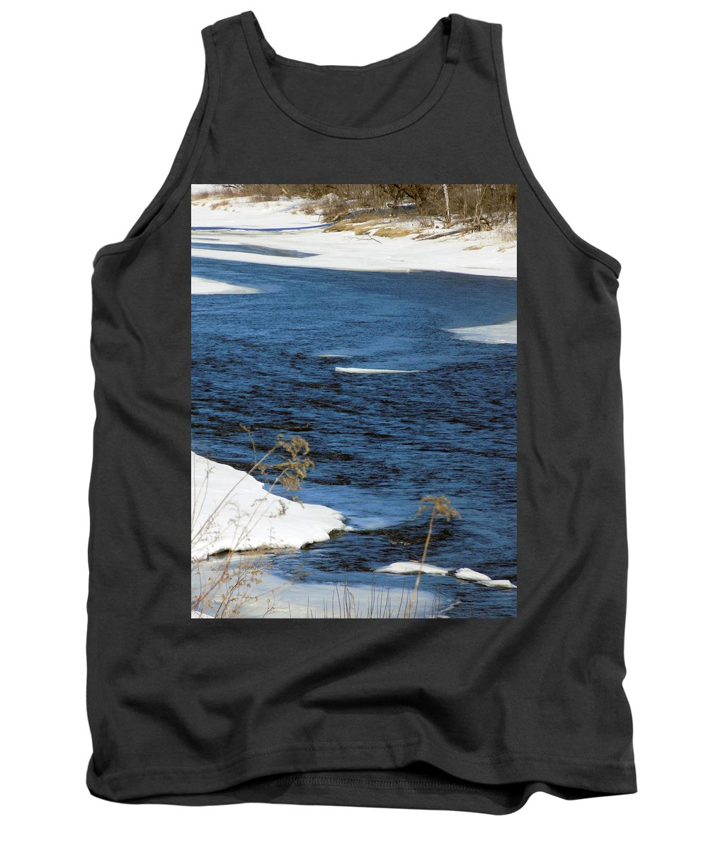 River Tank Top featuring the photograph Aroostook River Below The Dam by William Tasker