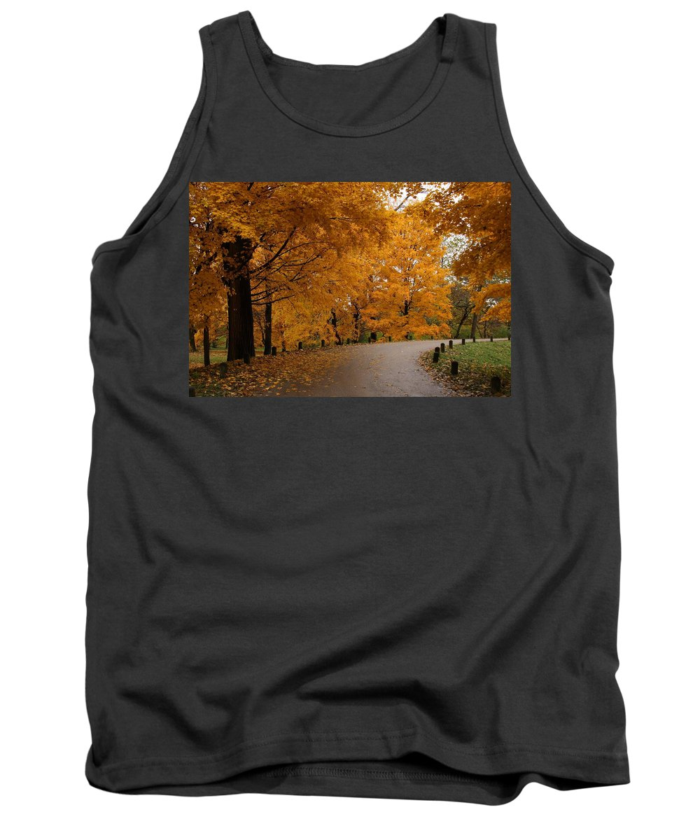 Leaves Tank Top featuring the photograph Around The Bend by Lyle Hatch