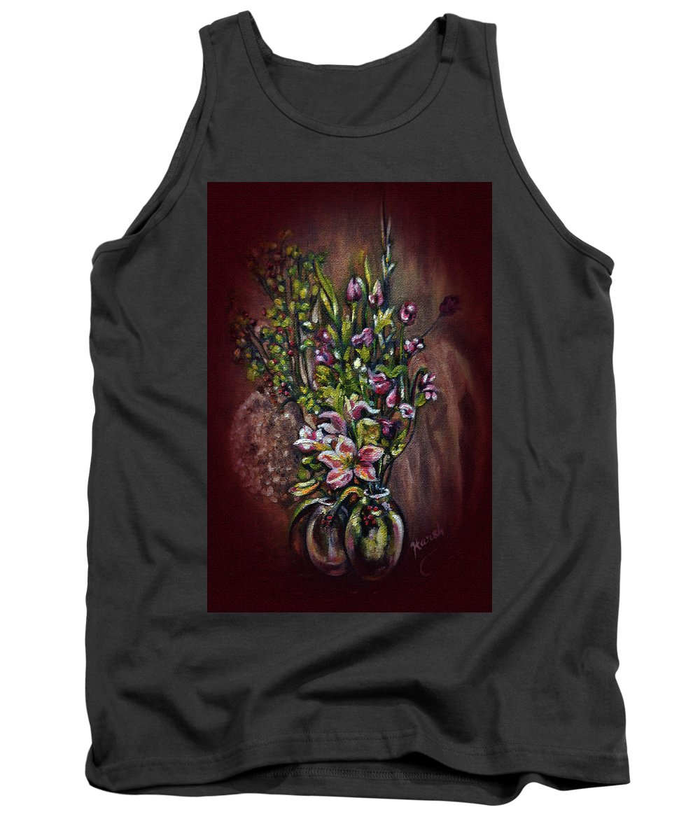 Still Life Tank Top featuring the painting Arrangement by Harsh Malik