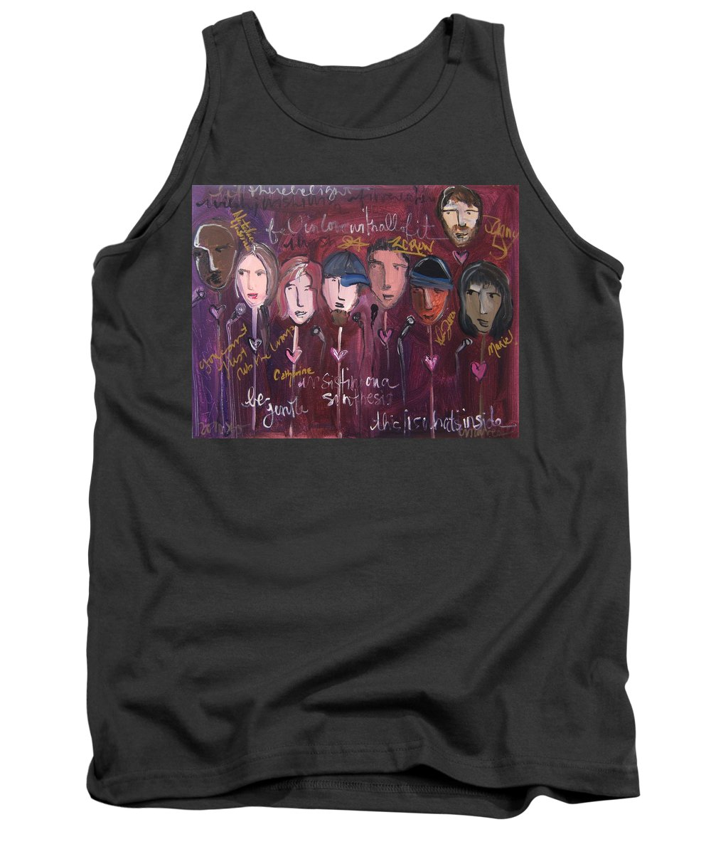Laurie Maves Art Tank Top featuring the painting Art From Ashes 2010 by Laurie Maves ART