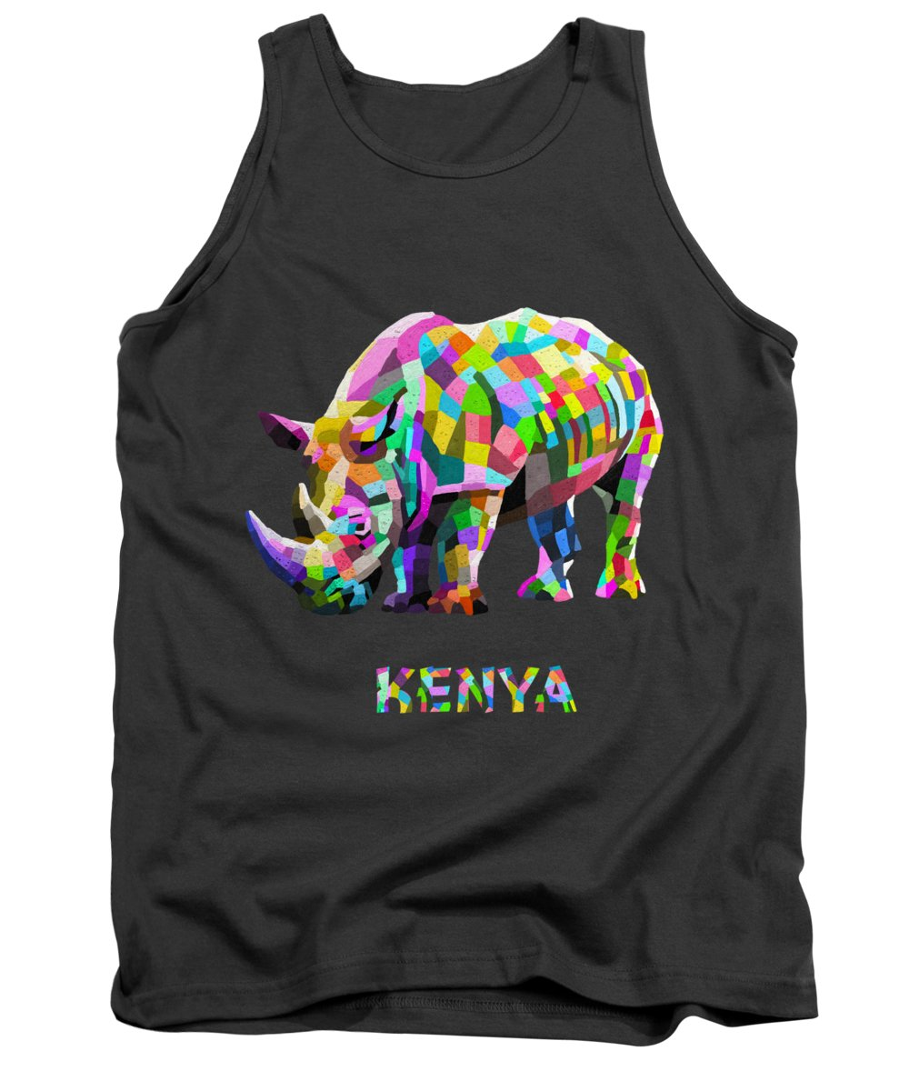 Nairobi Tank Top featuring the painting Wild Rainbow by Anthony Mwangi
