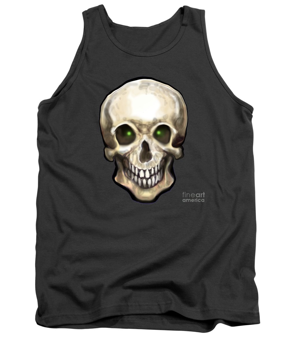 Skull Tank Top featuring the painting Skull by Kevin Middleton