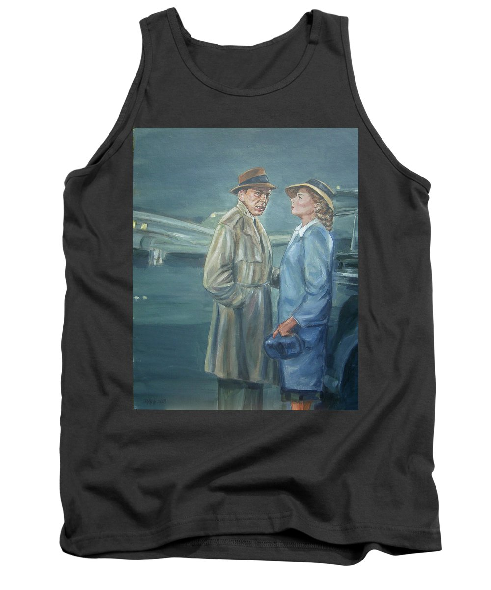 Casablanca Tank Top featuring the painting As Time Goes By by Bryan Bustard