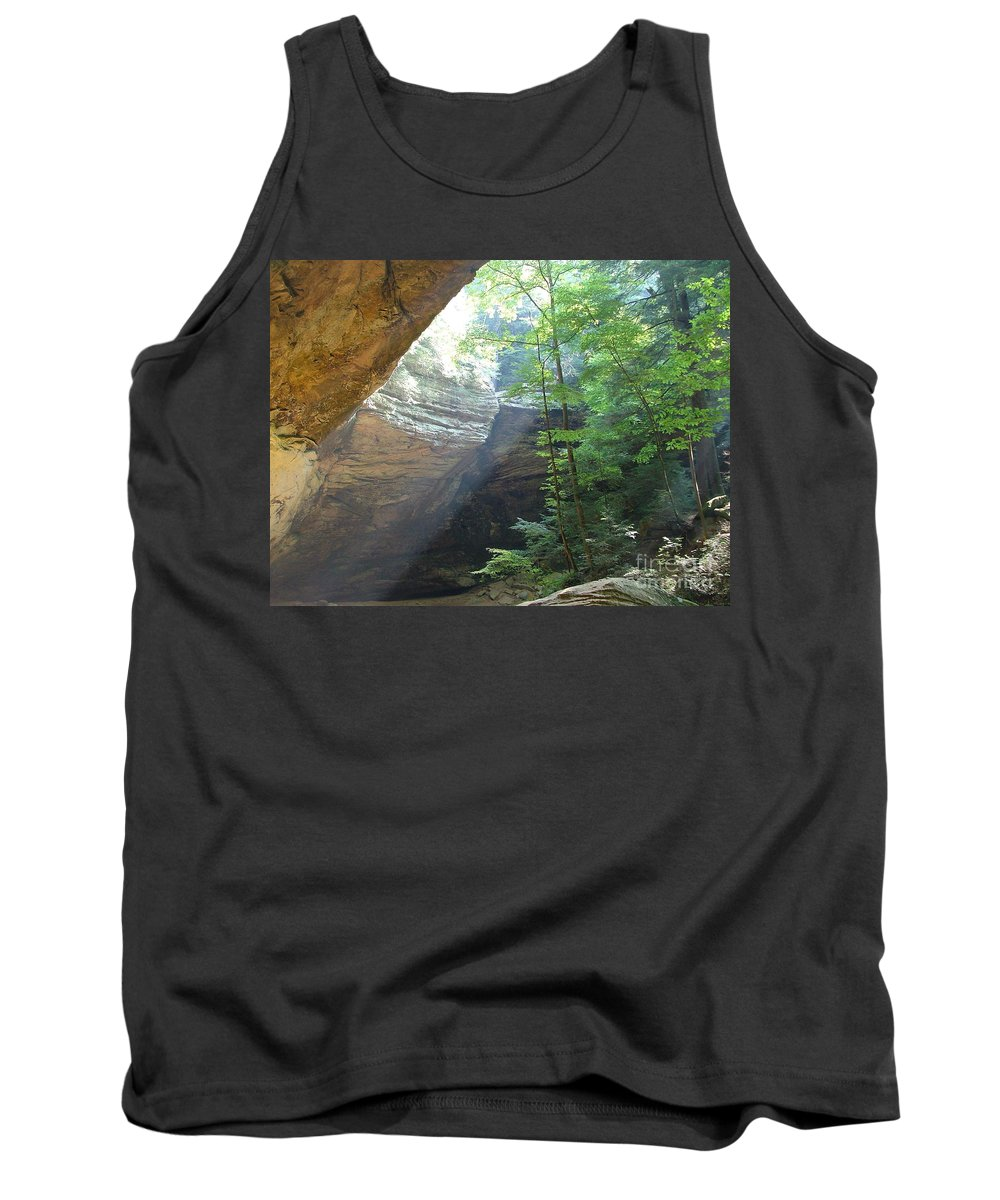 Photograph Tank Top featuring the photograph Ash Cave by Mindy Newman