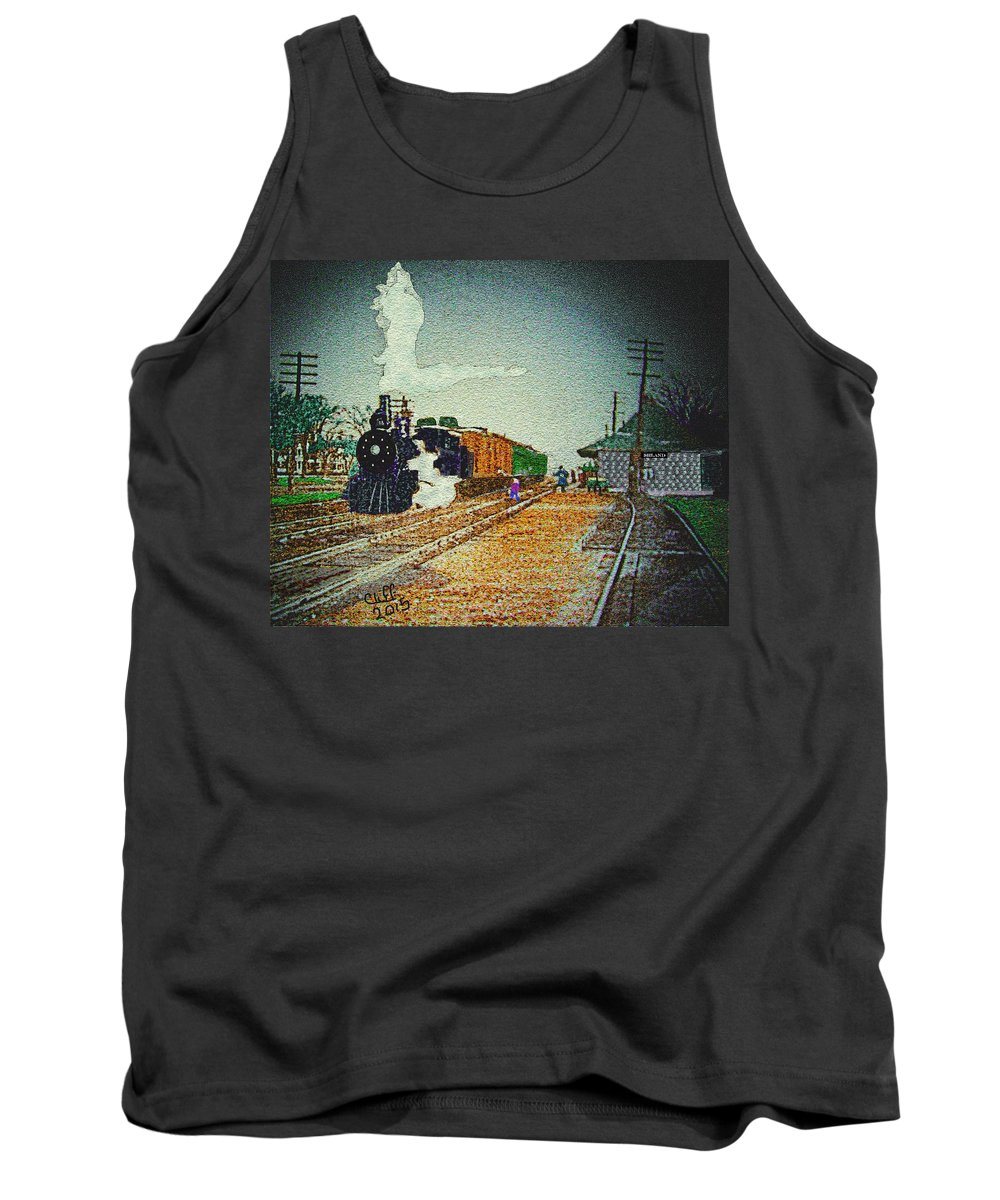 Ashland Tank Top featuring the painting Ashland Station by Cliff Wilson