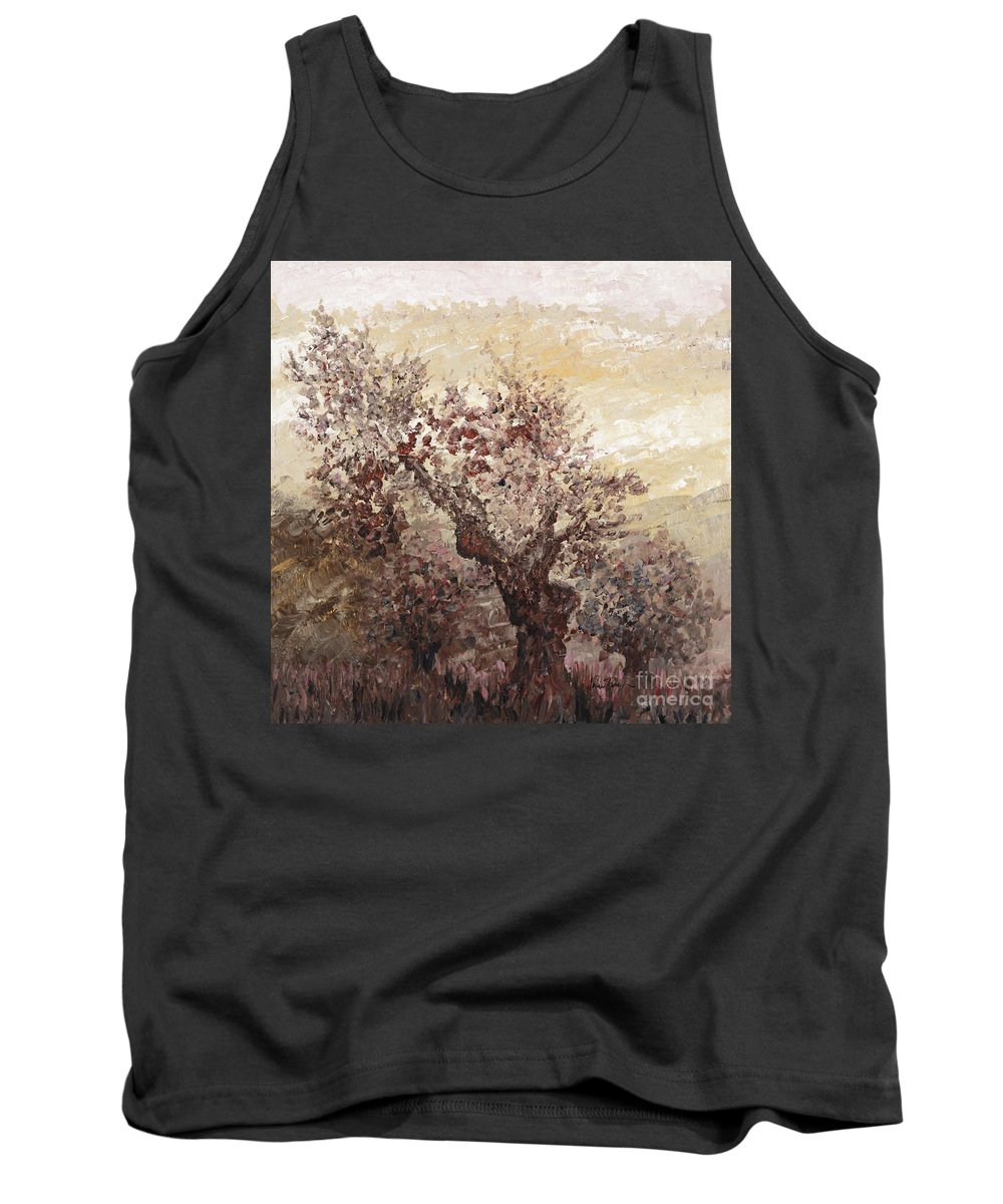 Landscape Tank Top featuring the painting Asian Mist by Nadine Rippelmeyer
