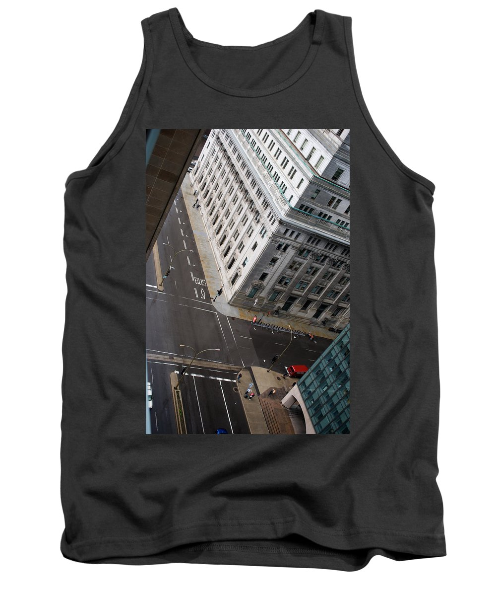 Askew Tank Top featuring the photograph Askew View by Lisa Knechtel