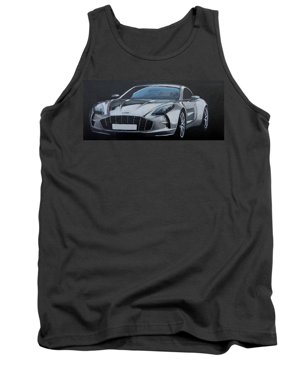 Car Tank Top featuring the painting Aston Martin One-77 by Richard Le Page