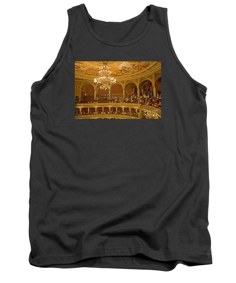 Budapest Opera Tank Top featuring the photograph At The Budapest Opera by Madeline Ellis
